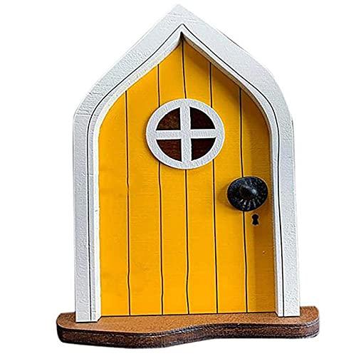 LJHH Porta in Miniatura da Giardino delle Fate per L'Albero delle Fate in Miniatura delle Porte degli Elfi Finestra E Porta Elf Home for Art Garden Statue di Sculture Mistiche Decorazioni