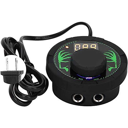Yuyanshop Fuente de alimentación del tatuaje, Pro LCD tatuaje fuente de alimentación pedal dual modo se adapta a todos los tatuajes máquina tatuaje herramienta accesorio