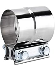 Banda de la abrazadera de escape, banda universal de acero inoxidable de 2.5 pulgadas en forma de U Abrazadera de tubo de escape Banda de unión de regazo