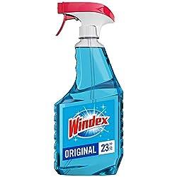 Windex Glass Cleaner Trigger Bottle, Original Blue, 23 fl oz