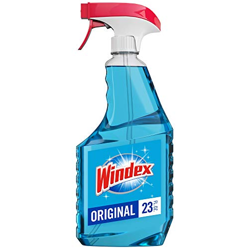 Windex Glass and Window Cleaner Spray Bottle, Bottle Made from 100% Recycled Plastic, Original Blue, 23 fl oz