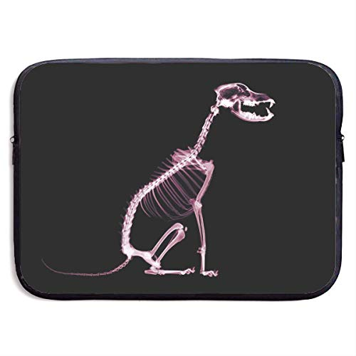 Fashion Computer Liner Sleeve Case Cool Skeletons Dogs Pattern Portable Laptop Protective Bag Cover Handbag for MacBook Pro/MacBook Air/Asus/Dell,13inch