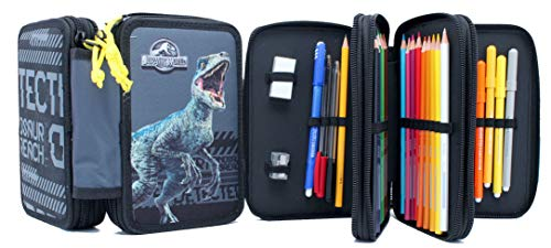 Astuccio 3 Zip Jurassic World