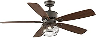 Kichler Clermont 52-in Satin natural bronze Indoor Downrod Mount Ceiling Fan with Light Kit and Remote
