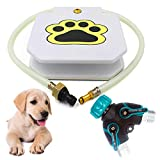 Outdoor Paw Activated Dog Fountain Automatic Waterer Yard Sprinkler Toy with Sturdy Copper Splitter