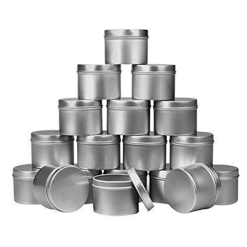 Fauge 18 Stück Kerzendose, 113 g, Kerzenbehälter für selbstgemachte Kerzenherstellung, Kerzenbehälter, handgefertigte Kerzenherstellungswerkzeuge