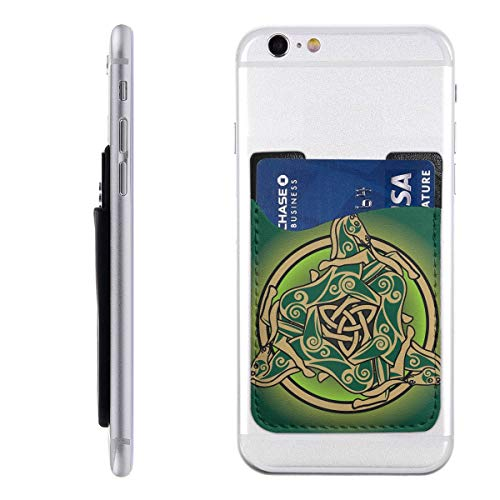 Beltane Wiccan Celtic Trinity Pagan Decoration Cell Phone Card Holder Stick On Wallet for Back of Phone Cute Adhesive Ultra Silim Phone Pocket ID Credit Card Holder Car Decor