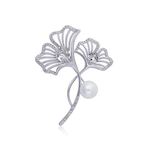 Broches Fashion Pearl Broches Elegante broche de cristal accesorios de cuello blanco multifuncionales Pin de solapa para la chaqueta Vestido de bufanda o chales Broche Pin Colgante ( Color : C )