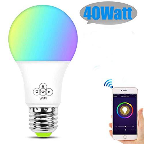 Mijogo Smart gloeilamp E26 WiFi Multicolor gloeilamp voor Alexa, Echo, Google Home en IFTTT (geen hub vereist), gelijkwaardige RGB-kleurwissellampen (verpakking van 2)