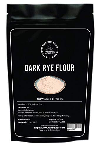 Naturevibe Botanicals Dark Rye Flour, 2lbs | Non-GMO and Gluten Free (32 ounces)