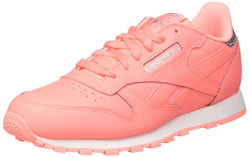 Reebok Classic Leather BS8981 Sneaker, Pink (Sour Rose Melon/White), 37 EU