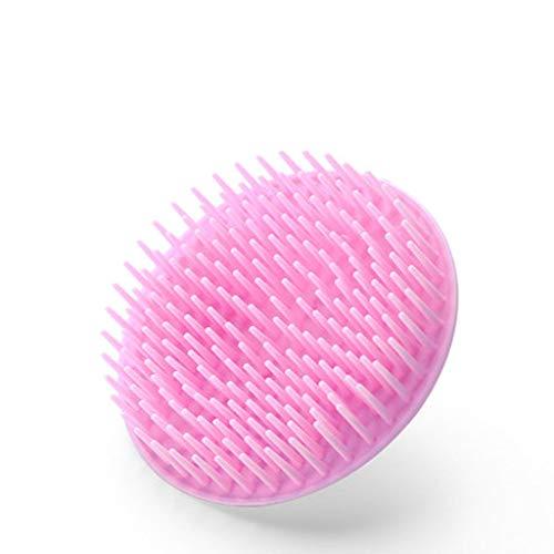 LLKK Masajeador de Cabeza,Cepillo de champú,masajeador Manual del Cuero cabelludo,Puede masajear y Limpiar el Cuero cabelludo,Rosa,Morado