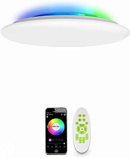 comprar comparacion OFFDARKS WiFi LED Lámpara de techo compatible con Amazon Alexa y Google Assistant, brillo ajustable, luz de color, APP + C...