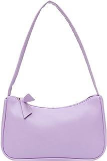 Yorimi Unterarmtasche für Damen im Retro-Stil, Schleife, Handtasche, PU-Leder, Tasche mit Griff oben Taschen mit Tragegrif...