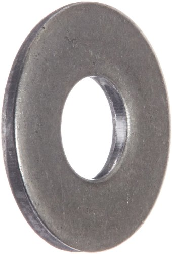 """300 Stainless Steel Flat Washer, #2 Hole Size, 0.09"""" ID, 0.25"""" OD, 0.030"""" Nominal Thickness (Pack of 100)"""
