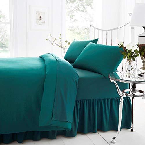 Gaveno Cavailia - Sábana Bajera para Cama de Matrimonio (percal, poliéster, algodón), Color Verde Azulado