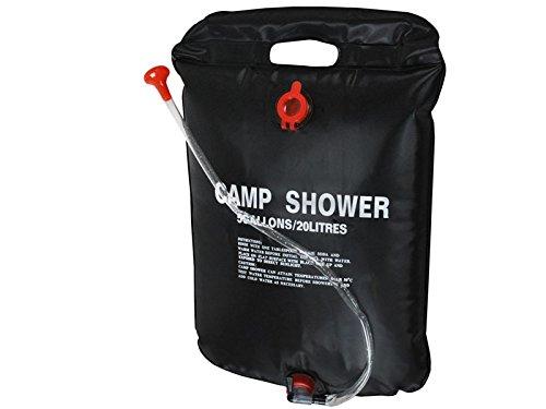 PoloMar Bolsa de ducha portátil de 20 l y 20 litros de PVC, para camping, senderismo, con calefacción solar, para ducha