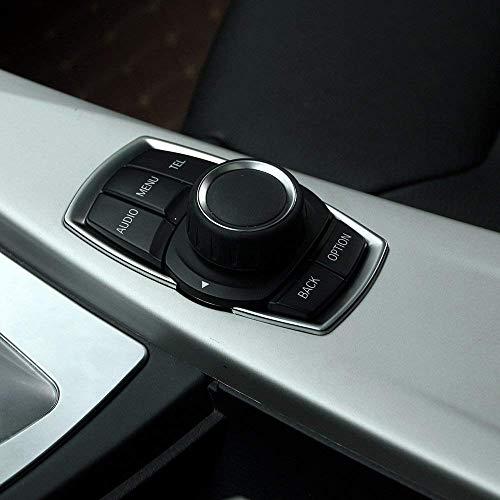Interrupteur multimédia chromé ABS à Garniture à Sequins pour 1 2 3 4 séries F20 F30 F32 F34 F35 GT 2016 2017 Argent Mat