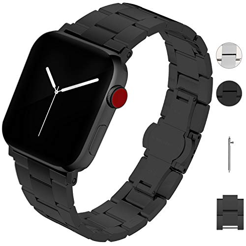 Fullmosa Cinturino per Apple Watch Serie 5/4/3/2/1, Cinturino per Orologio di rimozione Senza Attrezzi in Acciaio Inossidabile 38mm 40mm 42mm 44mm, Bracciale di Ricambio in Metallo per iWatch