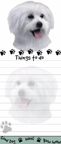 E&S Pets Magnetische Notizblock, Motiv: Malteser Welpe, einzigartig, 21,6 x 8,9 cm