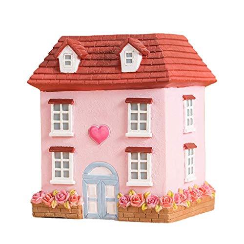 MXZBHDIY Hucha de Yeso, Dibujo de Color Hecho a Mano de Molde de látex para Rose House Girl Decoración Creativa Escritorio Hucha de Dibujos Animados