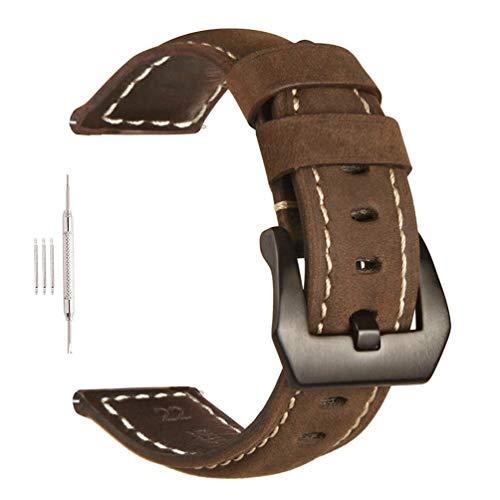 Paneraiパネライ代用ベルト26mm腕時計 革 ベルトデカ厚 47mmケースバンド 腕時計 替えバンド メンズ 工具付き