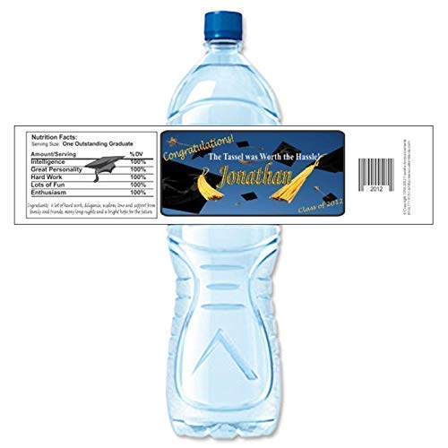 Amazon Com Graduation Water Bottle Labels Personalized