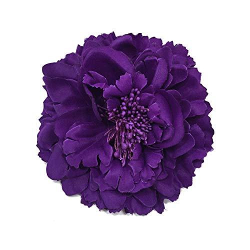 SeniorMar-UK Elegante Rose Blume Haarspange Brosche Haarnadeln für Frauen Mädchen Haar Kleid Dekoration Hochzeit Accessoires