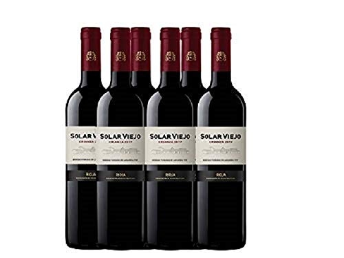 Solar Viejo Crianza Rioja - 750 ml - Pack de 6 botellas - 4500ml