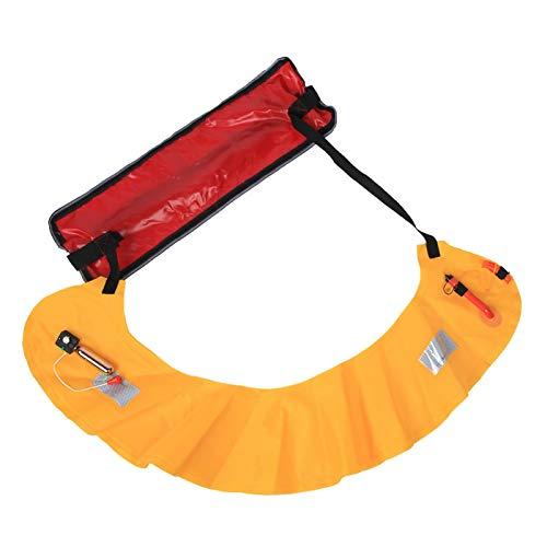 DAUERHAFT Life Buoy Cinturón de Cintura Chaleco Salvavidas Cinturón con Cinta Reflectante, para visualización Nocturna, Emergencia, para Actividades al Aire Libre(Manual)