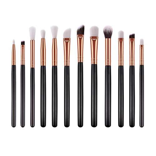 Brosses Maquillage de visage 12pcs Maquillage Professionnel Brosses Kit poignée en bois Brosses cosmétiques doux cheveux de beauté Maquillage des yeux ombre pinceau de maquillage, Maquillage Brush S