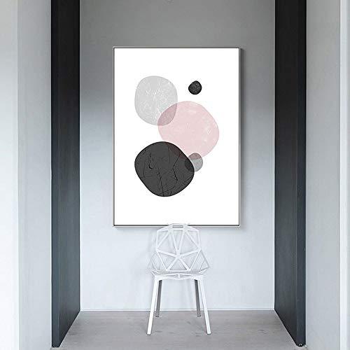 ETH Nordic moderne geometrische eenvoudige abstracte kunst decoratie schilderij wit fotolijst muurschildering slaapkamer huis woonkamer hotel 30*40/40*60/50*70cm high-definition micro-spray Halloween auto