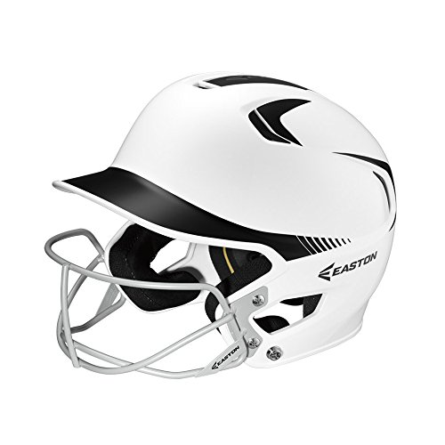 Easton Senior Z5 2Tone Batters Helmet with SB Mask, White/Black