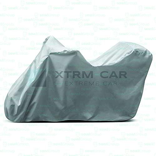 XTRM-CAR Abdeckplane Abdeckung Abdeckhaube Faltgarage Ganzgarage passt für Aprilia RST mit Koffer - Silver S