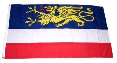Fahne / Stadtflagge Rostock NEU 90 x 150 cm Flagge [Misc.]