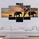 obras de arte geniales para sala de estar Cuadros De Elefantes Tiendalecom