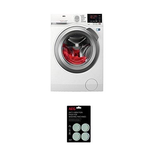 AEG L6FBA68 Waschmaschine Frontlader/Energieklasse A+++ (137,0 kWh/Jahr)/leise Waschmaschine mit 8 kg XXL ProTex Schontrommel + Schwingungsdämpfer (9029795276) Anti-Vibrationskissen