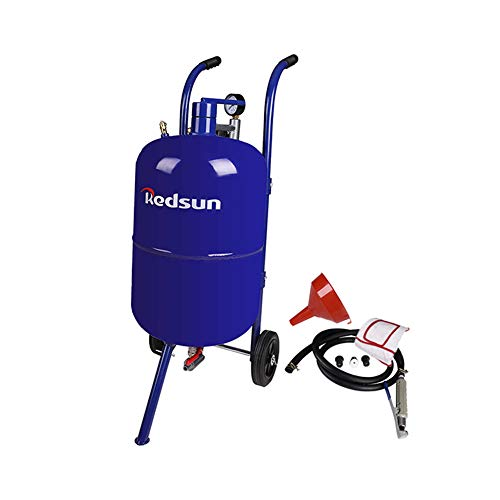 Sand Blaster Abrasive Blaster Portable Power Sand Blasting Kit for Removing Paint, Stain, Rust, Compatible Pressure Sand Blaster (Blue)