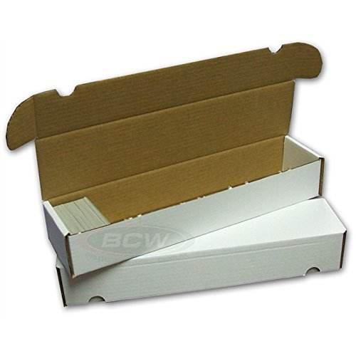 BCW 930 Count- Corrugated Cardboard Storage Box - Baseball, Football, Basketball, Hockey, Nascar, Sportscards, Gaming & Trading Cards Collecting Supplies (2 Boxes)