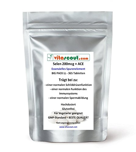 Selen / Selenium 200 mcg & ACE - 365 Tabletten - PN: 031211
