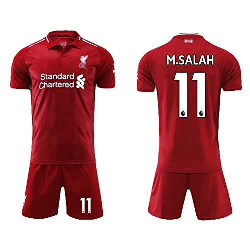 LSY Camiseta de Manga Corta Pantalones Cortos de Liverpool Camiseta de Entrenamiento de fútbol para el hogar Kit de fanáticos Uniforme de fútbol