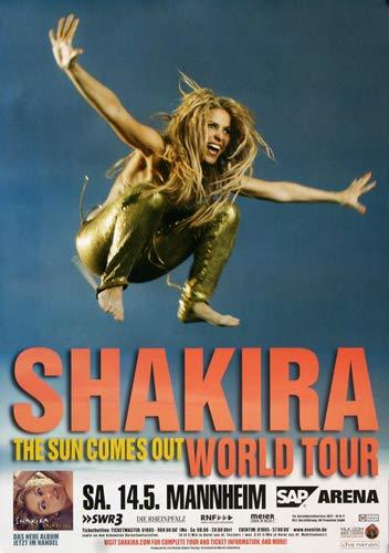 Shakira - Alive and Swinging, Mannheim 2011 » Konzertplakat/Premium Poster | Live Konzert Veranstaltung | DIN A1 «