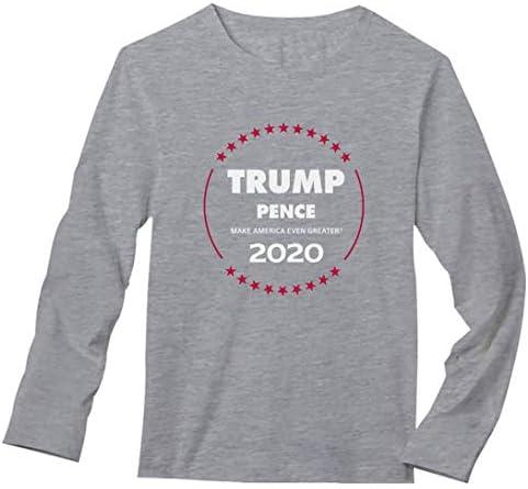 Threadrock Women/'s Trump And Pence 2016 Long Sleeve T-shirt Republican