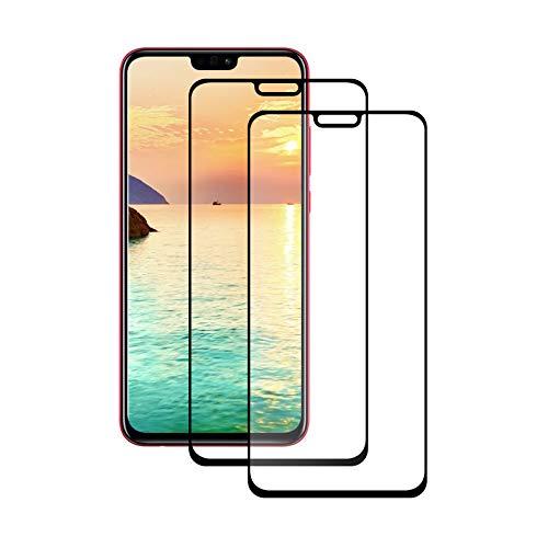 LPCJ [2-Pack Protector Pantalla Huawei Honor 8X, Cristal Templado Huawei Honor 8X, Vidrio Templado con [9H Dureza] [Alta Definicion] [Sin Burbujas ]para Huawei Honor 8X