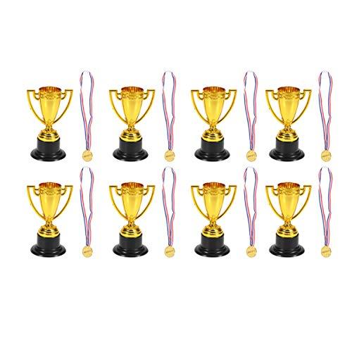 Toyvian 11 Juegos de Trofeos Y Medallas de Plástico con Premios Ganadores Medalla Trofeo para Niños Estudiantes ✅