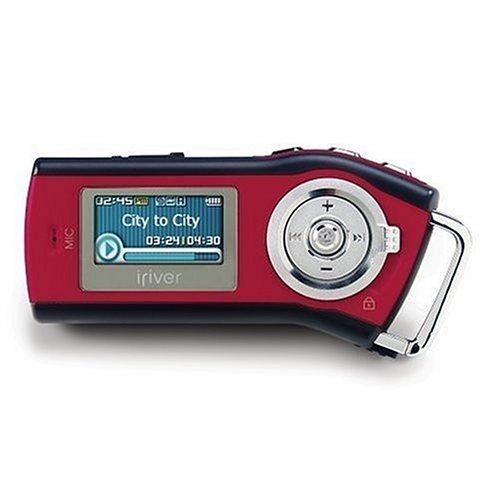 iRiver T 10 FM Tragbarer MP3-Player 512 MB mit Radio rot