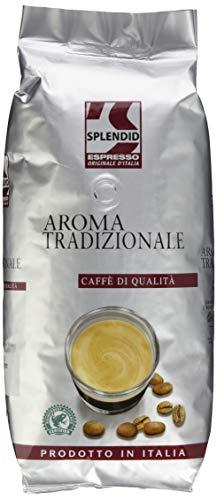Splendid Espresso Originale d'Italia Tradizionale, 1kg Bohnenkaffee, ganze Bohne, intensiver Espresso mit kräftigem Geschmack