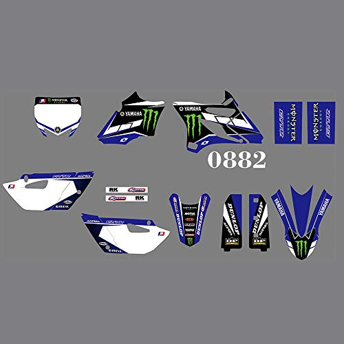 DST0880 Customized 3M Sticker Graphic Sticker Kit Graphics for Yamaha YZ85 2015 2016 2017 2018 2019 2020 (Green)