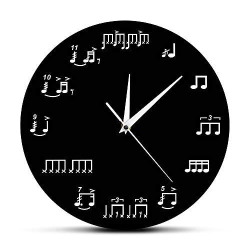 LEIHALA Noten Noten Musikzimmer Wanduhr Klavier Diskant Personal Uhren Musiker Geschenk für Lehrer