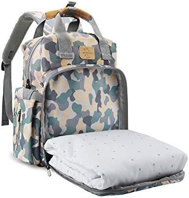Diaper Bag Backpack New Upgrade FRUITEAM Diaper Bag Backpack with Mat Large Baby Bag Multi Functional product image
